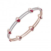 THE ENRAPTURED RUBY LOVE BRACELET