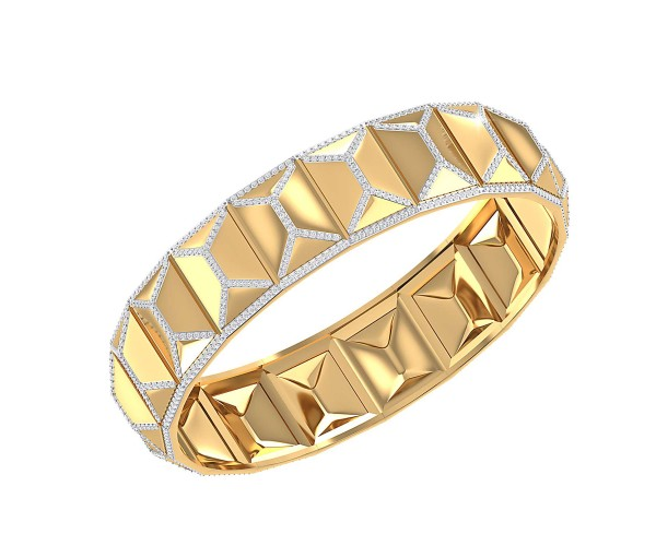 THE RUMAISA PYRAMID BANGLE
