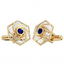 THE BLUE VORTEX CUFFLINKS