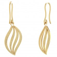 THE LALIQUE LEAF DROP EARRINGS
