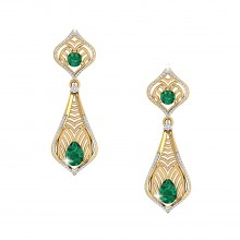 THE EMERALD REGALIA EARRINGS