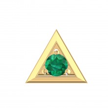 THE GREEN PYRAMID MEN'S STUD