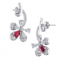THE RUBY FLAME STUDS