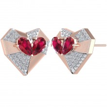 THE ETERNAL LOVE HEARTS STUDS
