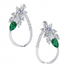 THE WHISPERING WOODS EMERALD STUDS