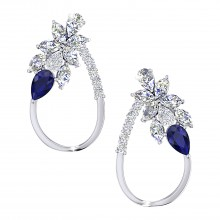 THE WHISPERING WOODS SAPPHIRE STUDS