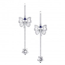 THE SAPPHIRE DUCHESS NEEDLE AND THREAD EARRINGS