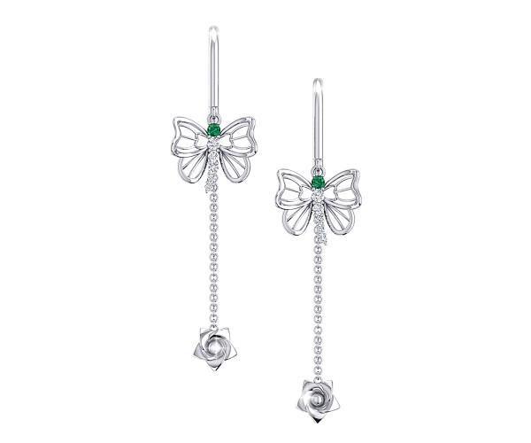 THE EMERALD DUCHESS NEEDLE AND THREAD EARRINGS