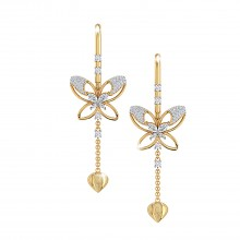 THE COUNTESS BUTTERFLY NEEDLE AND THREAD EARRING