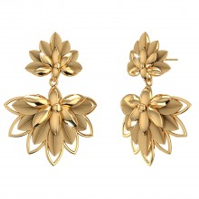THE PALMYRA LEAF DROP EARRINGS