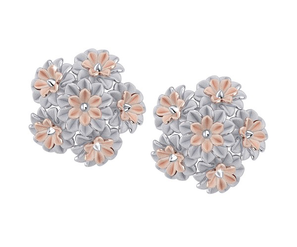 THE FLORAL CLUSTER STUDS