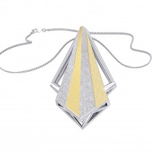 THE GLITTERING WEDGE PENDANT