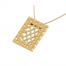THE LATTICE FRAME PENDANT