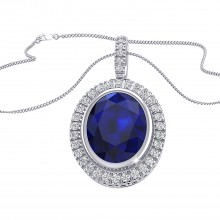 THE OVAL SAPPHIRE CLUSTER PENDANT