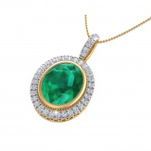 THE OVAL EMERALD CLUSTER PENDANT
