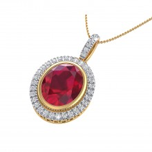 THE OVAL RUBY CLUSTER PENDANT