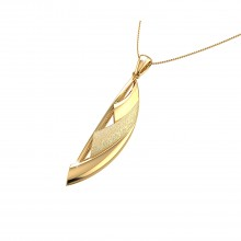 THE GOLD SLASH PENDANT