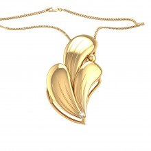 THE CURVED WAVE PENDANT