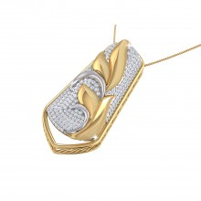 THE FRANGIPANI PALM FROND PENDANT