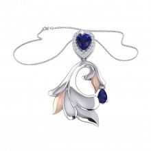 THE GLOWING SAPPHIRE PALM FROND PENDANT