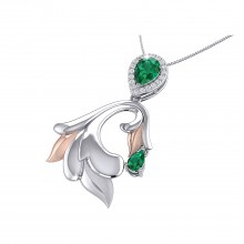 THE GLOWING EMERALD PALM FROND PENDANT