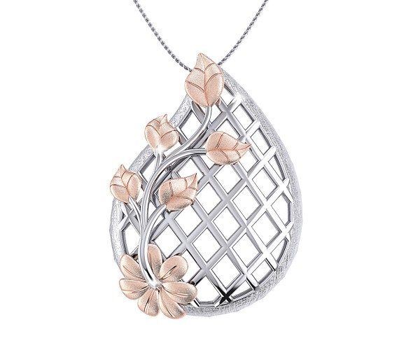 THE MESHED BOUQUET PENDANT