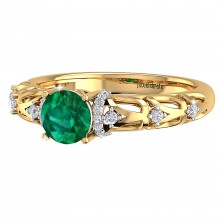 THE VIBRANT EMERALD RING