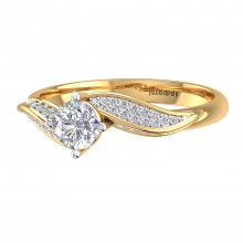 THE SPARKLING WAVE SOLITAIRE RING