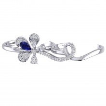 THE BLUE FLAME TWO FINGER RING