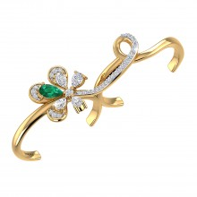THE GREEN FLAME TWO FINGER RING
