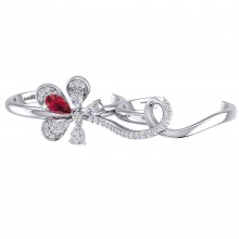 THE RED FLAME TWO FINGER RING