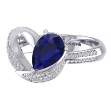 THE SCINTILLATING SAPPHIRE LOVE RING