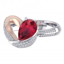 THE RESPLENDENT RUBY LOVE RING