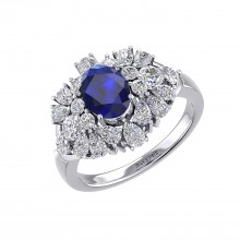 THE SAPPHIRE FLURRY RING