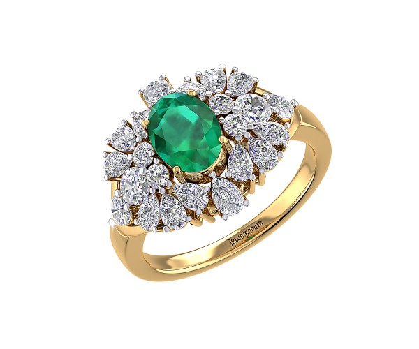 THE EMERALD FLURRY RING