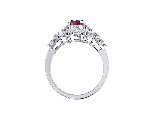 THE RUBY FLURRY RING