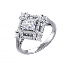 THE RUBRIC CUBE SOLITAIRE RING