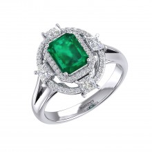 THE EMPRESS EMERALD RING