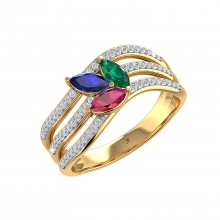 THE DAINTY PALM FROND RING