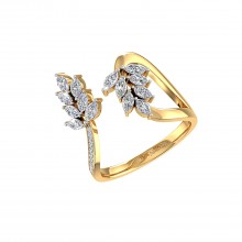 THE WINGED LEAF RING