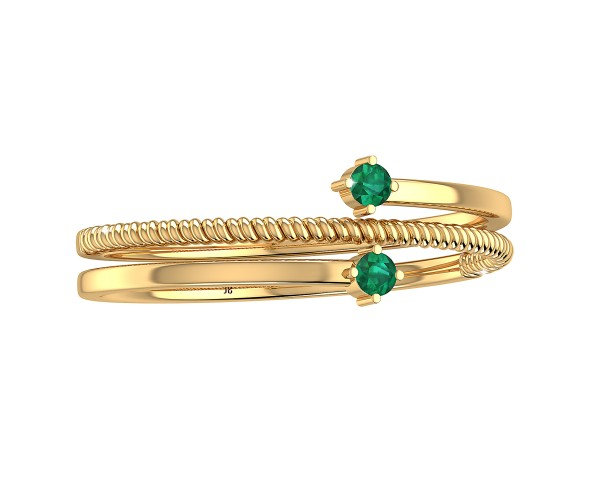 THE GREEN TWIST TOE RING